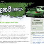 Awarded in Top 100 CSS Designs 2008 (Nerd Business)