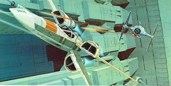 Tie attacks an x wing